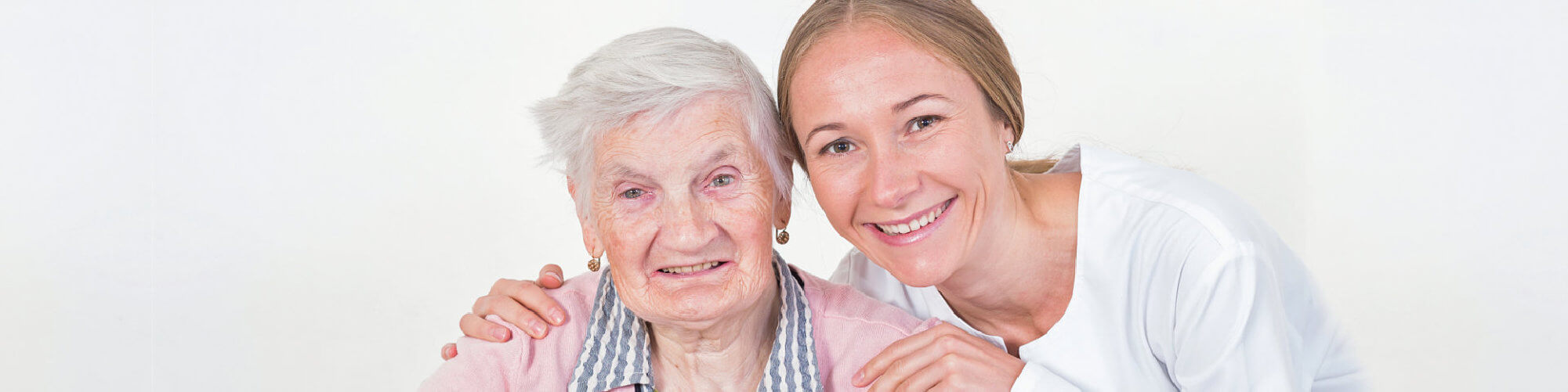elderly women with the young doctor
