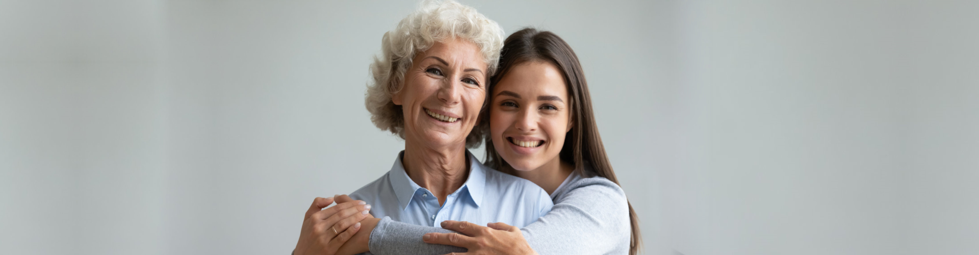 old woman and her grand daughter